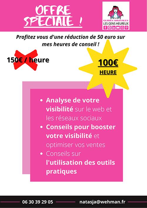 Offre spéciale, heures conseil 100 euro